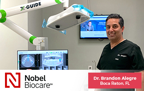 Dr. Brandon Alegre, Boca Raton Dentist using X-Guide Dental Implant Technology